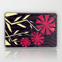 Red Flowers On Wood Laptop & iPad Skin