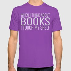 I Touch My Shelf - Black Mens Fitted Tee Ultraviolet SMALL