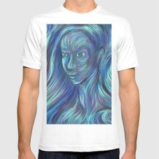 frozen fire Mens Fitted Tee SMALL White