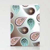 Praisley Pattern, Bordau… Stationery Cards