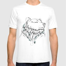 Poetic Bear Mens Fitted Tee White SMALL