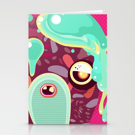 Monster Stationery Card