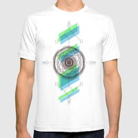 B.G Geo Mens Fitted Tee White SMALL