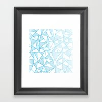 Abstraction Lines Watercolour Framed Art Print