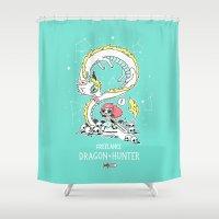 Dragon Hunter Shower Curtain
