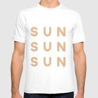 Sun Sun Sun Mens Fitted Tee White SMALL