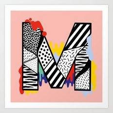 M for ... Art Print