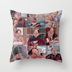 9 shades of Costanzas Throw Pillow