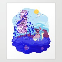 Tiny Worlds - Cinnabar Island Art Print