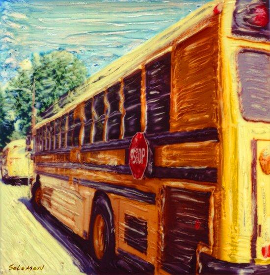 School Bus Art Print