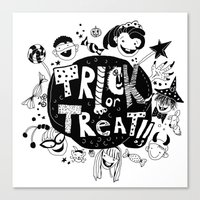 For Halloween - Trick Or… Canvas Print