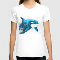 Orca  Womens Fitted Tee White SMALL