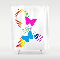 You can't have a Rainbow without the Rain - Awareness Ribbon Shower Curtain