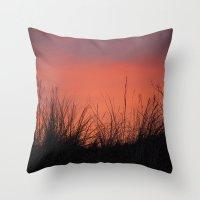 The Orange Sky. Throw Pillow
