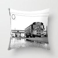 South Tacoma roadside Throw Pillow