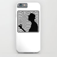 Bass Guitar Player Silhouette B/W iPhone 6 Slim Case