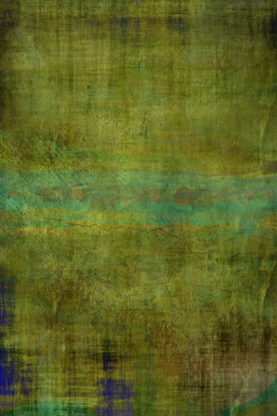 Green burrows ~ Abstract Art Print