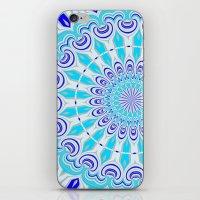 mandala blue iPhone & iPod Skin