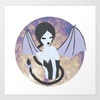 Demon Girl Art Print
