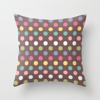 Color Dots Throw Pillow