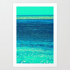 Azure Calm Art Print