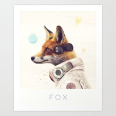 Star Team - Fox Art Print