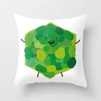 hexagonin Throw Pillow
