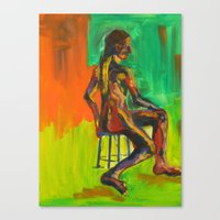 Male Nude Canvas Print