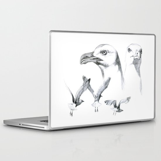 Great Black-backed Gull - Larus marinus   SK043 Laptop & iPad Skin