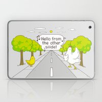 Why Did The Chicken Cros… Laptop & iPad Skin