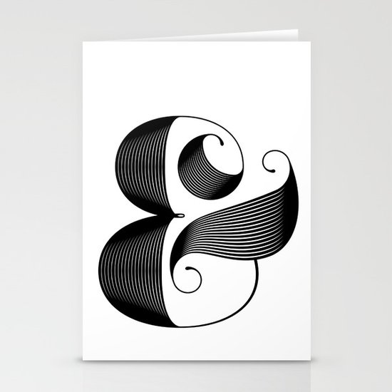 Ampersand Stationery Card