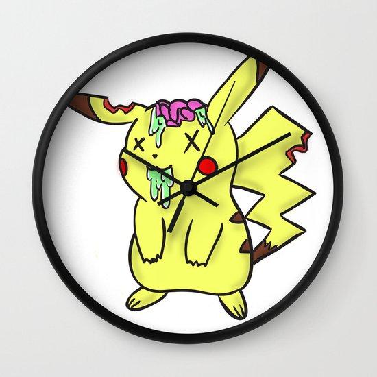 Zombiechu! Wall Clock