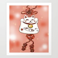 Lucky Cat Art Print