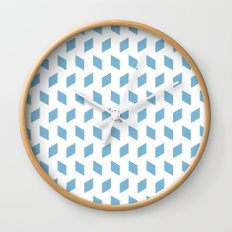 rhombus bomb in dusk blue Wall Clock