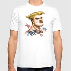 American Badass Mens Fitted Tee White SMALL