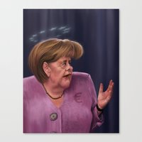 Angela Merkel Canvas Print