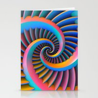 Opposing Spirals Stationery Cards