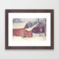 Winter Wonderland- Swede… Framed Art Print