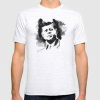 John F. Kennedy JFK Mens Fitted Tee Ash Grey SMALL
