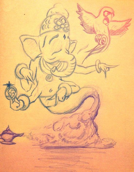 Everyone Has A Genie Somewhere  Art Print