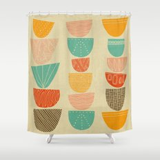 Stacks Shower Curtain