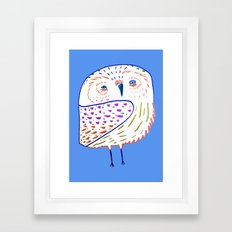 owl print, owl illustration, owl art, owl  Framed Art Print