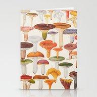 Les Champignons Mushroom… Stationery Cards