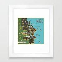 Mapping  Milwaukee Framed Art Print