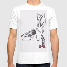 francine the rabbit queen. SMALL White Mens Fitted Tee