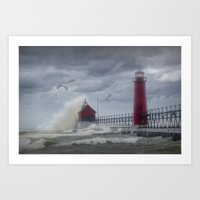 New Years Day Storm At T… Art Print
