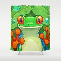 Frankie The Frog Shower Curtain