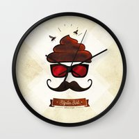Hipster Hat Wall Clock