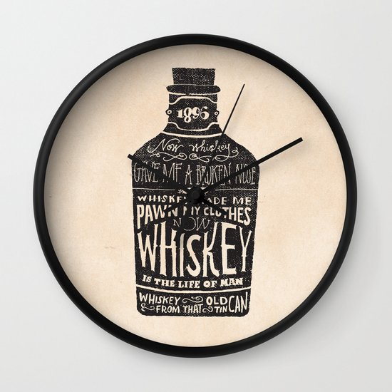Whiskey Wall Clock