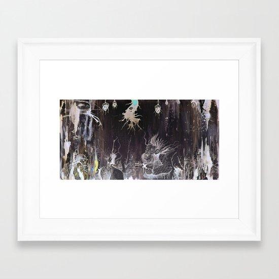 Black and White and a Rubin Framed Art Print